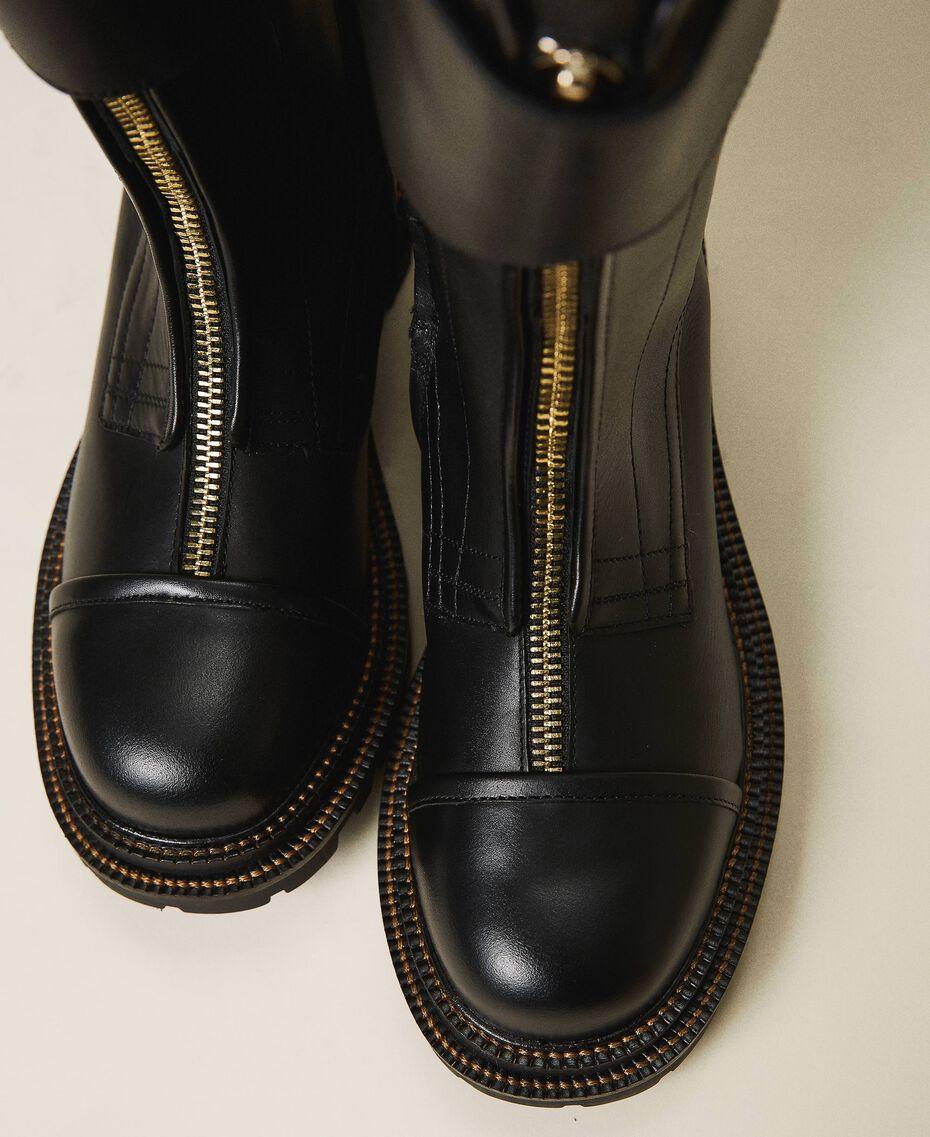 Кожаные ботинки-амфибии с ремешком Черный женщина 202TCP180-03