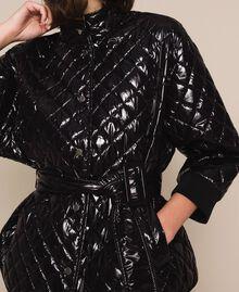 Ультралегкий стеганый пуховик Черный женщина 201MP2051-04