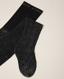 Tights with heart motif all over Black Woman 202TO514B-01