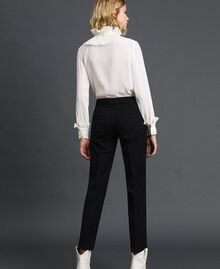 Cigarette trousers in technical wool Black Woman 192TP2356-03