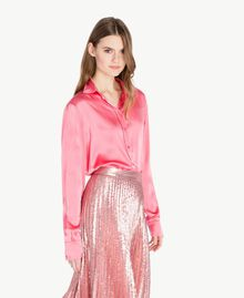 "Silk shirt ""Doll"" Fuchsia Woman PS825D-02"