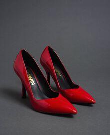 Scarpe décolleté in vernice Rosso Papavero Donna 192MCP038-02