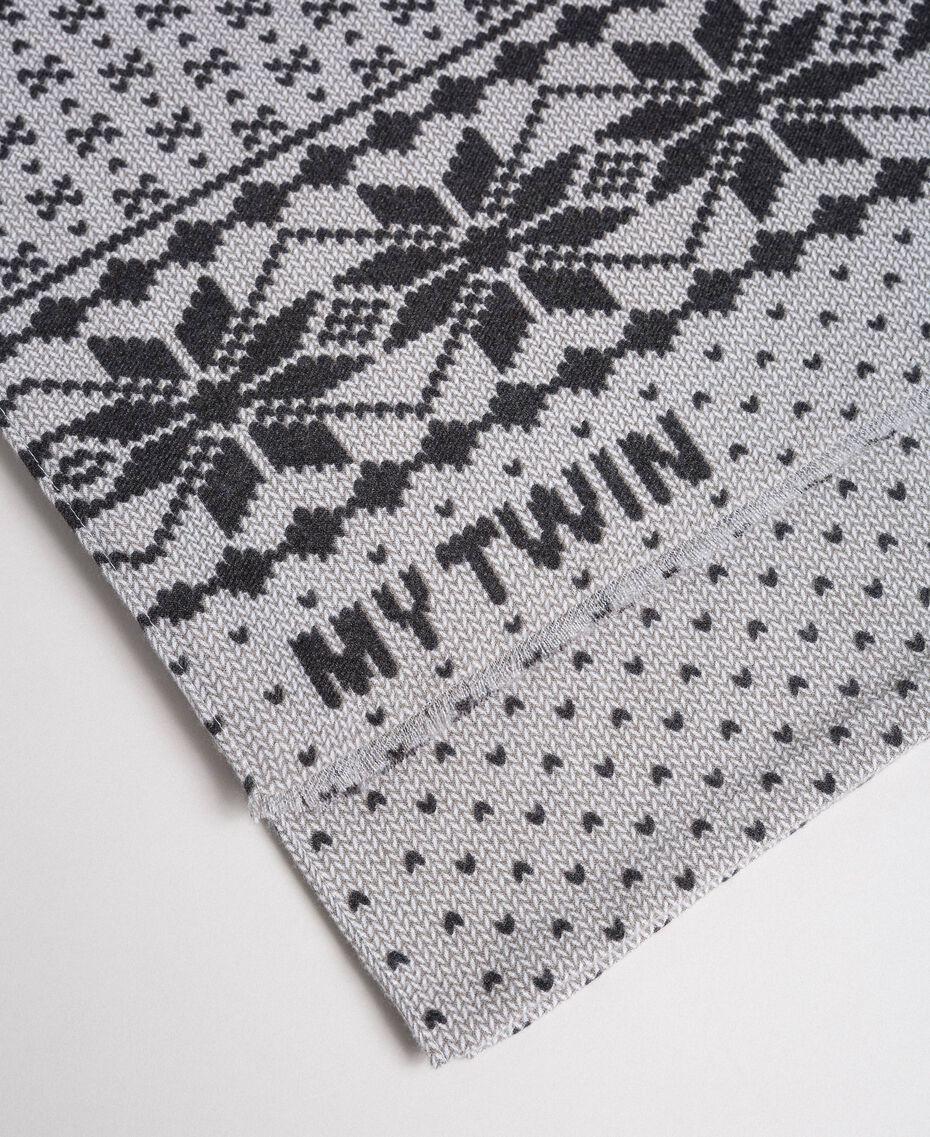 Écharpe avec imprimé effet jacquard Imprimé Flocons de Neige Lys / Noir Femme 192MO5316-02