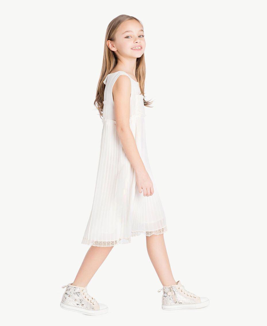 Kleid mit Plissee Chantily Kind GS8LDP-03