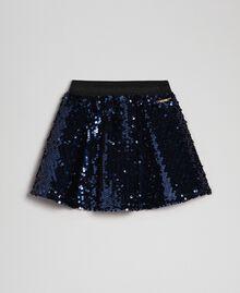 Velvet skirt with sequins Blue Night Child 192GB2091-01