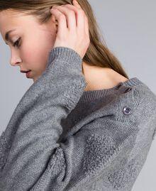 Трикотажная кофта из смешанной шерсти с орнаментом с сердцами Серый Mélange женщина JA83E1-04
