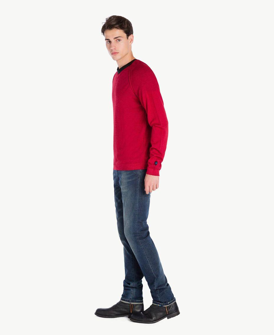 Pull laine Rouge Vénitien Mâle UA73BB-02