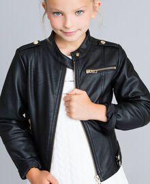 Veste en similicuir Noir Enfant GA82BA-0S