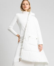 Long puffer jacket with high neck Ivory Woman 192LI2JAA-04