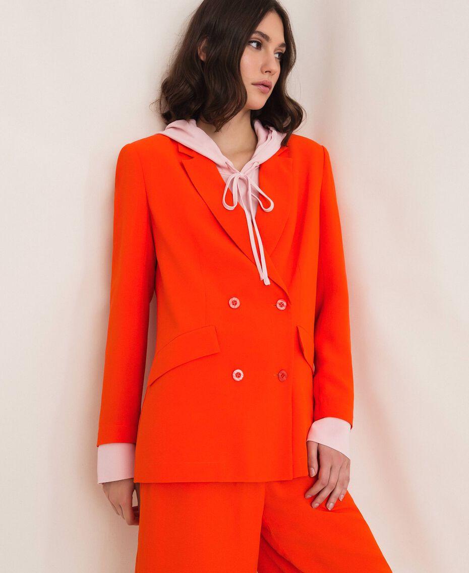 "Georgette blazer ""Ace"" Orange Woman 201LL2NHH-01"