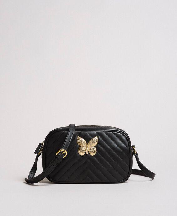 Matelassé leather shoulder bag