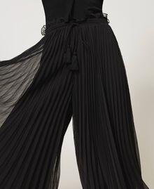 Pantaloni in mussola plissé Avorio Donna 211LM2LBB-04