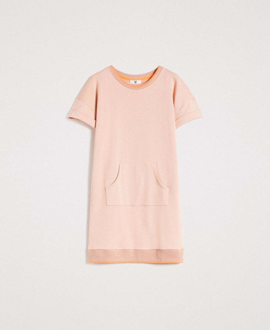 Fleece mini dress Delicate Pink Woman 191LL21AA-0S
