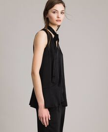Flared top with bow Black Woman 191TP2696-02