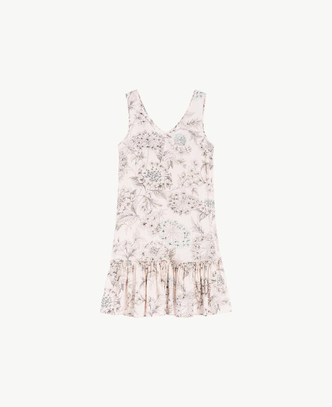 "Nachthemd mit Print Makroblumenprint ""Pinkie Sugar"" Frau LS8DGG-01"