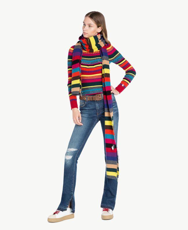 Jersey de rayas A Rayas Multicolor PA737P-06