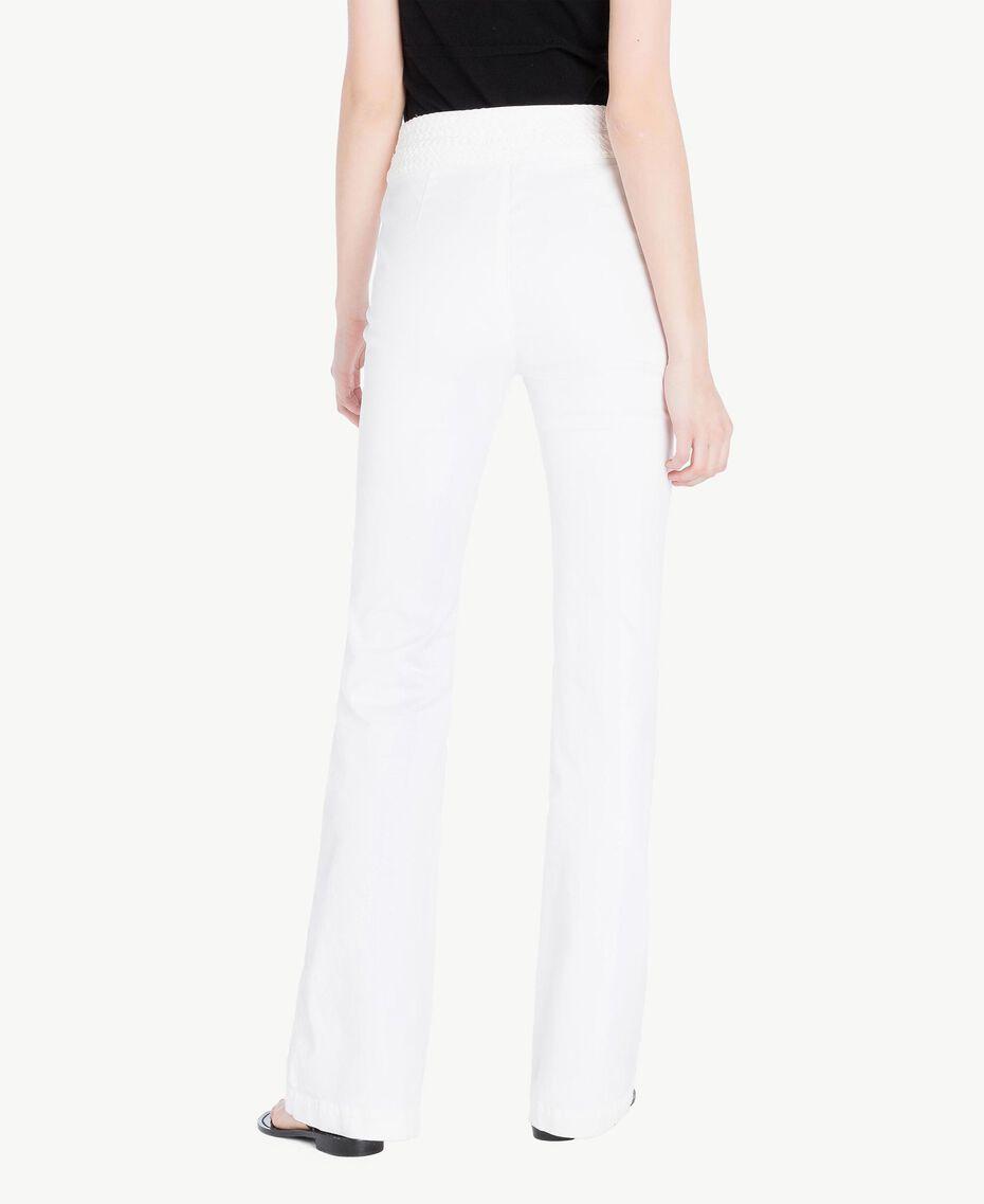 Pantalón de algodón Blanco Mujer TS82GA-03