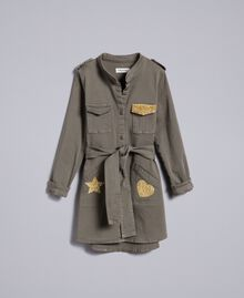 Cotton shirt dress with star Olive Child GA827R-01