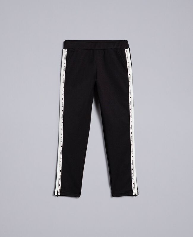 info for 452b2 5ed10 Technical fabric leggings with logo Child, Black   TWINSET ...