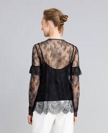 Camicia in pizzo Valencienne multicolor Nero Donna PA82FR-03
