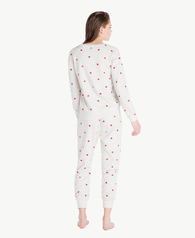 Hearts sweatshirt Medium Gray Mélange Woman LS8EDD-04