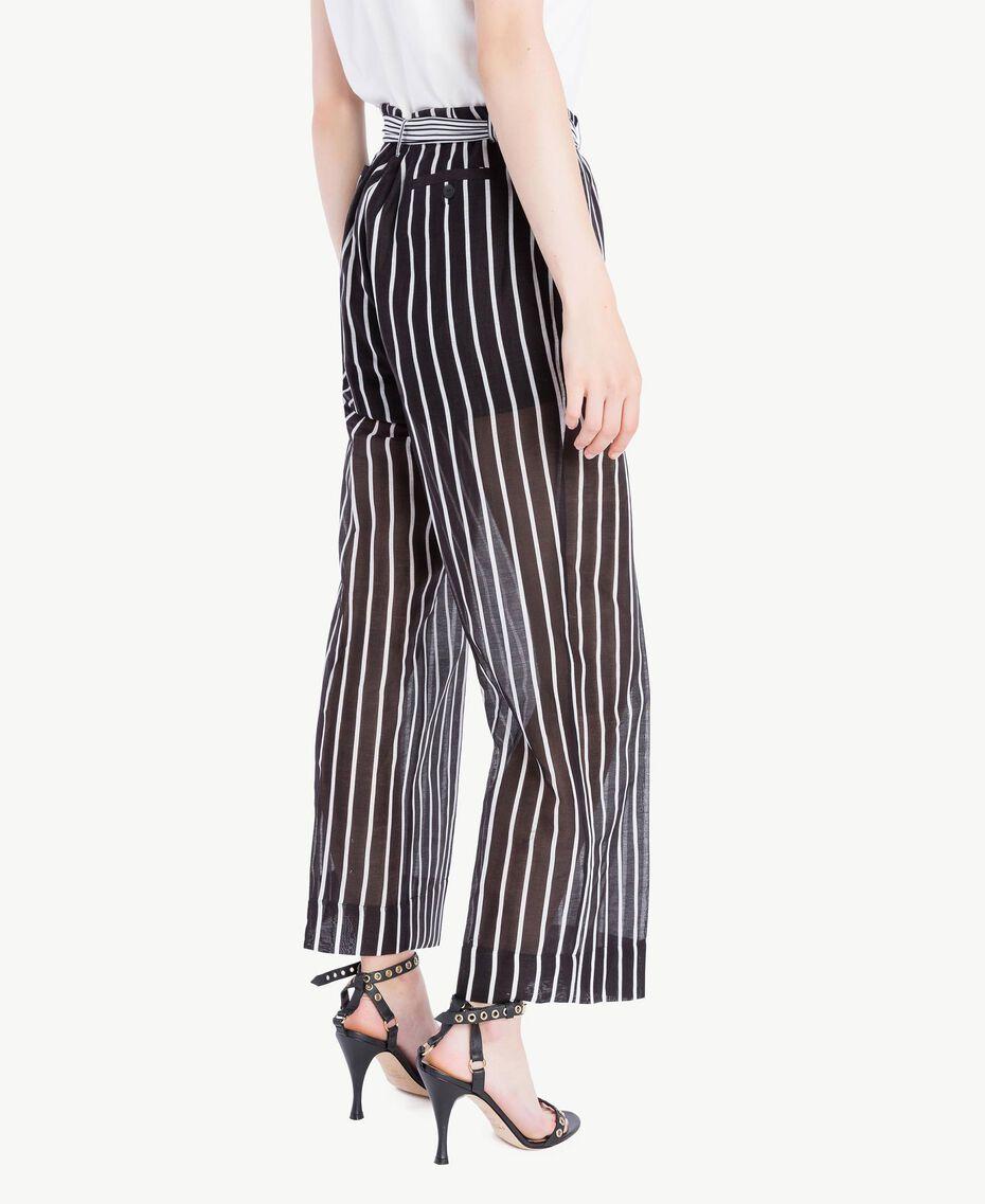 Pantalon imprimé Imprimé Patch Rayure Femme TS82ZN-03