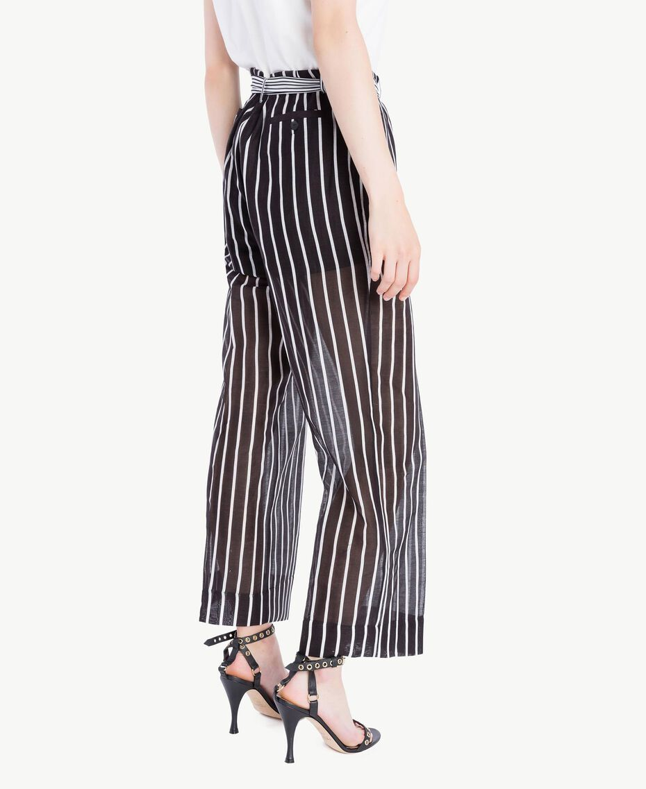 Printed trousers Patch Stripes Print Woman TS82ZN-03