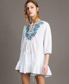 Blusa con ricamo a punto croce Bianco Donna 191MT2063-02
