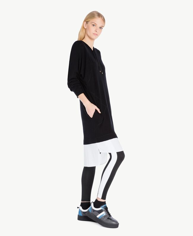 """TWINSET Sneaker color block Grigio / Azzurro """"Anice"""" CA7TJ5-04"""