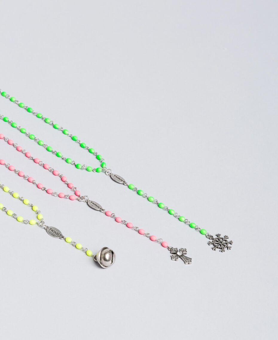 Ensemble de colliers de style rosaire Nickel Usé Femme QA8TLN-01