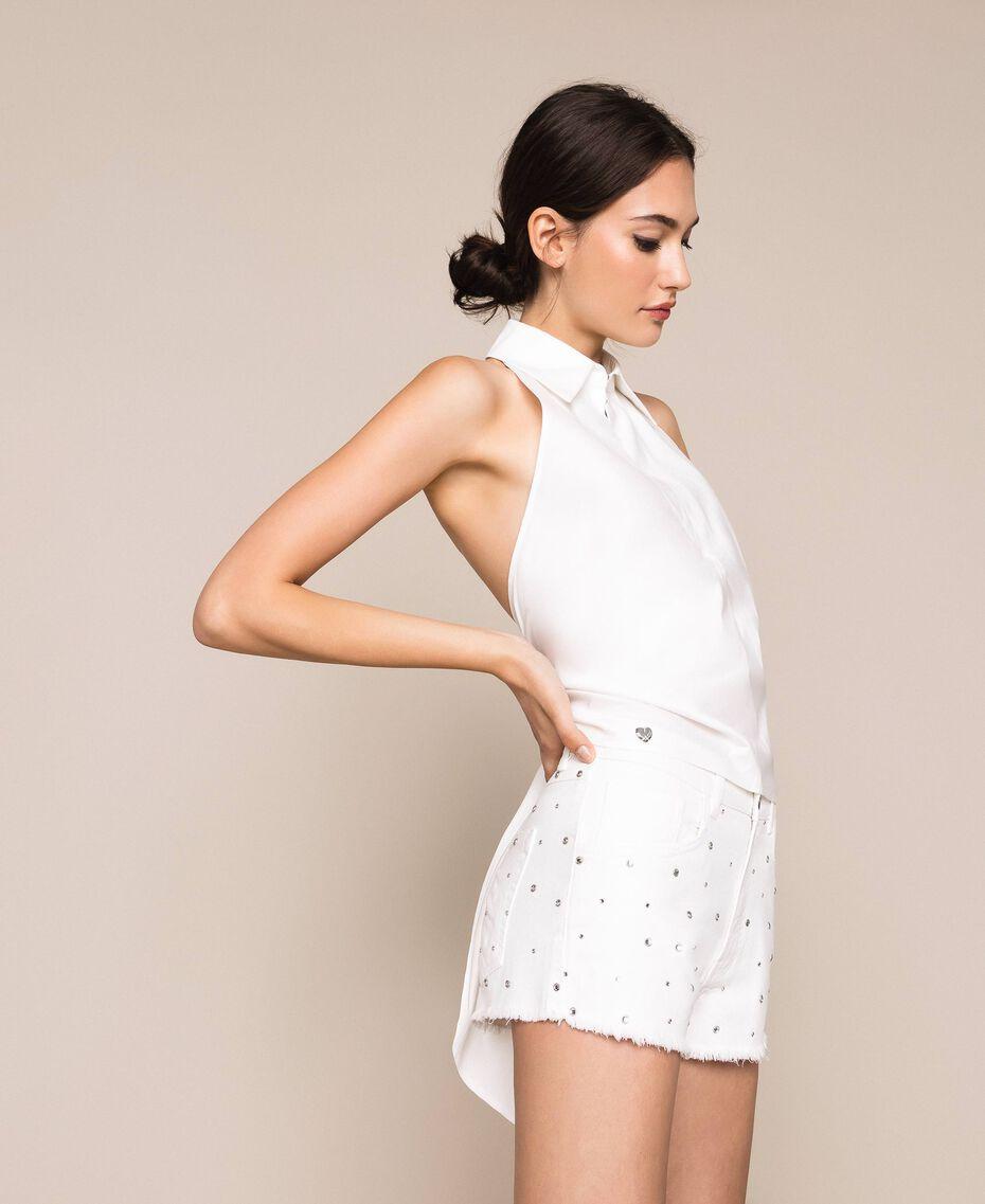 Short strassé Blanc Neige Femme 201TP2131-01