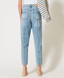 Jeans with bezel fringes Denim Woman 211TT2382-04