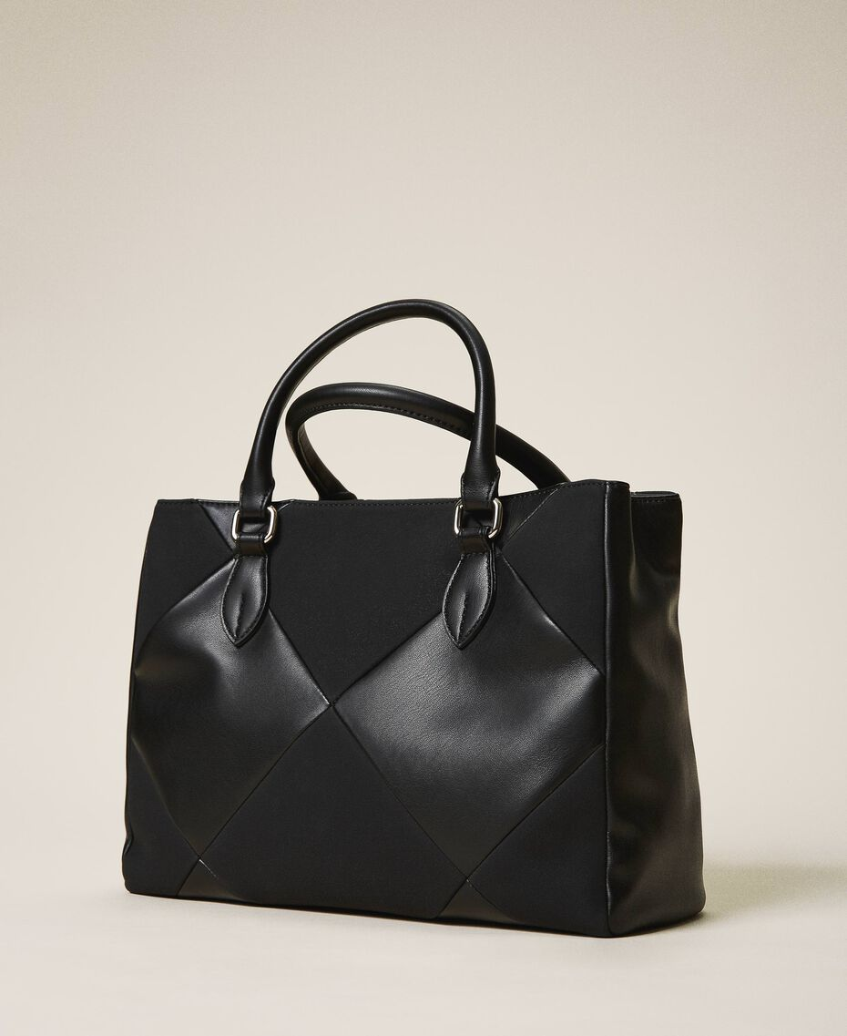 Shopper aus Lederimitat Kirsch Rot Frau 202MA7020-03