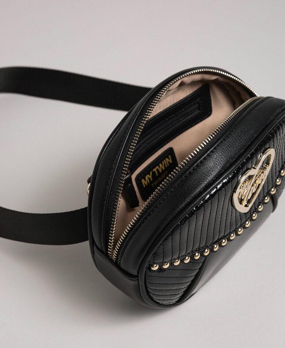 Borsa cintura in similpelle con borchie e nappa Nero Donna 192MO8015-05