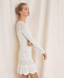 Robe en maille façon dentelle Blanc Neige Femme 201TP3210-01
