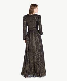 Robe longue Jacquard Noir / Or Femme TS8267-03