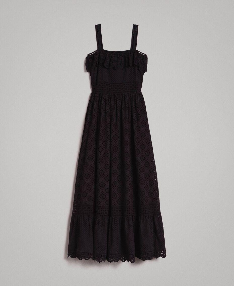 Robe longue avec broderie anglaise Noir Femme 191TT2043-0S
