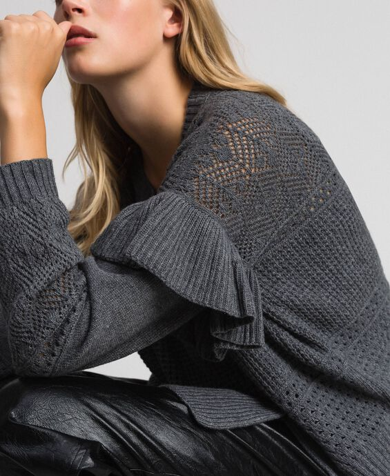 Openwork wool and cashmere jumper