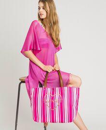 """Strandtasche mit Canvasstreifen Streifen Multicolour Pink / """"Tangerine Cream"""" Pink Frau 191LB4ALL-0S"""