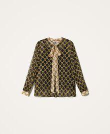 Creponne shirt with chain print Black / Ivory Large Chain Print Woman 202TT221D-0S