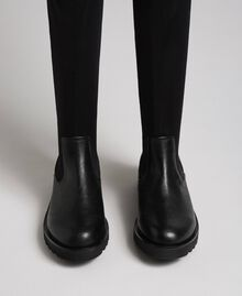 Thigh high boots in stretch fabric Black Woman 192MCT092-05