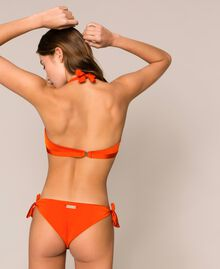 "Triangle bikini top with sequins ""Ace"" Orange Woman 201LBMC33-03"
