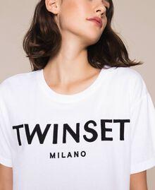T-shirt avec logo brodé Violet «Ballerine» Femme 201TP2081-04