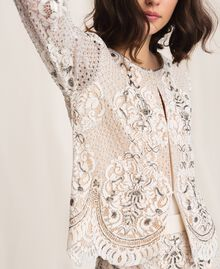 Lace jacket with embroidery Ivory Woman 201TP2460-05