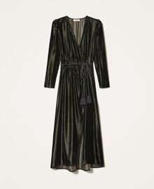 Long velvet dress Black Woman 202TT2160-0S