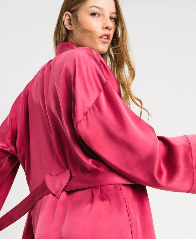Satin dressing gown Rose Blossom Woman 191LL2DEE-04