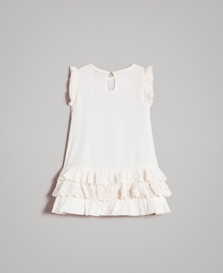 Robe en coton avec volants en broderie anglaise Chantilly Enfant 191GB2570-0S
