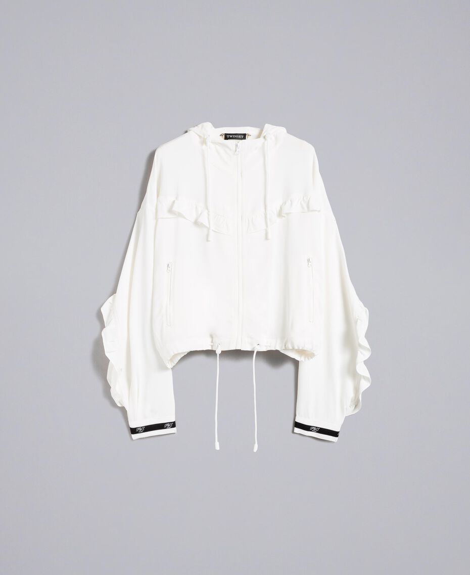 Georgette jacket with ruches White Snow Woman PA82HA-0S
