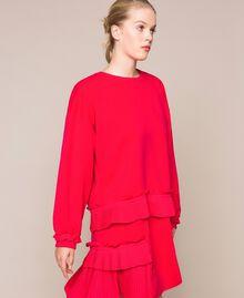 Блуза из жоржета с плиссировкой Вишня женщина 201TP2023-02