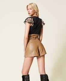 Shorts a vita alta con cintura Lampone Scuro Donna 212TP2510-03